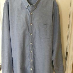 J.CREW Mens Slim vintage oxford shirt size XL Blue